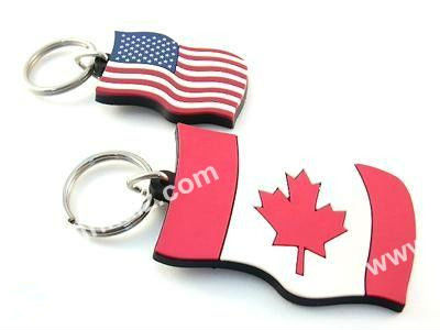 flag PVC Key Chain