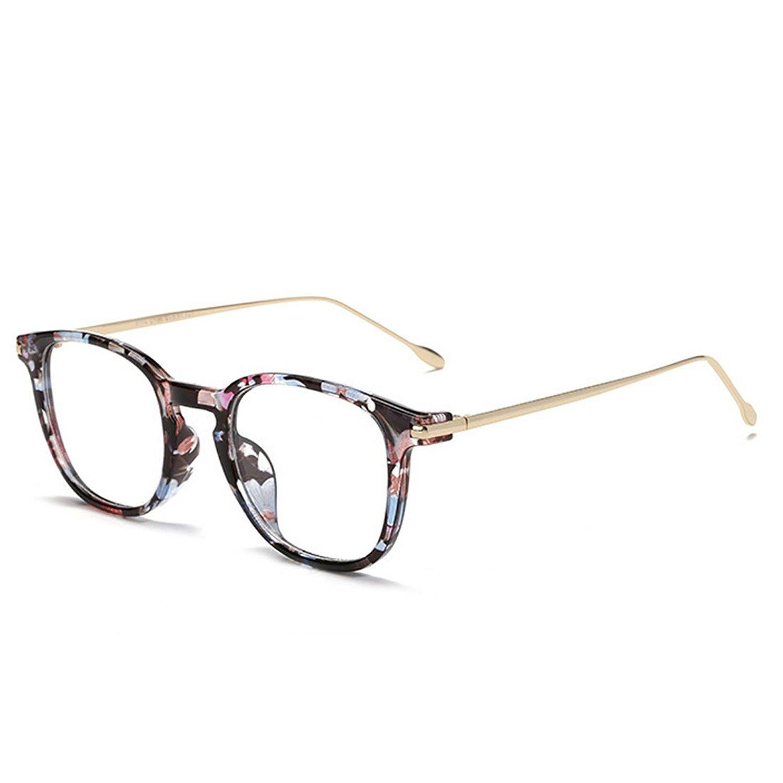 03f183101e D.King Vintage Square Glasses Frames Horn Rimmed Clear Lens Eye Glasses