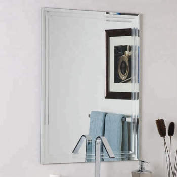 China Modern Waterproof Frameless Bathroom Mirror With Polished Edge