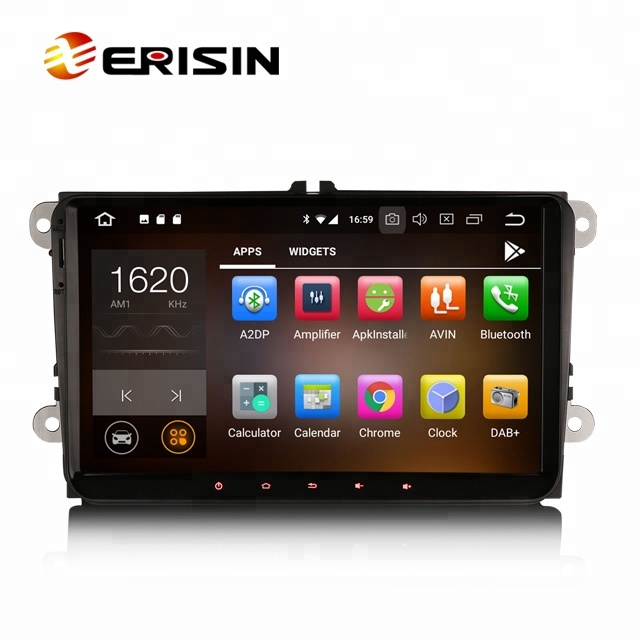 "Erisin ES7818V 9 ""Octa Core Android 8.0 4G WiFi DAB TPMS GPS autoradio lecteur dvd pour VW GOLF"