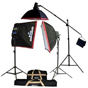 Britek#FK4000B Professional Photography Fluorescent Lighting Kit with Boom Stand+2 Fluorescent Light Bank+2 Softbox+16 Fluorescent Lamp+1 Cool Light Holder+1 Fluorescent Lamp+2 Giant Light Stand+1 Studio Boom stand+3 Carrying Bag