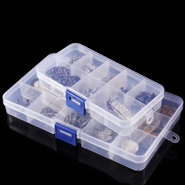 Plastic Organizer Box with Dividers Letter jewelry Container Case Bead Storage