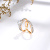 R1 Xuping bague en or fashion design couple gold gemstones ring set, engagement brand wedding rings jewelry