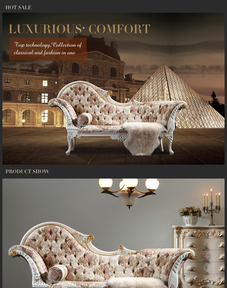 French style furniture- baroque style chaise lounge Best selling product good quality leather lounge : french style chaise - Sectionals, Sofas & Couches