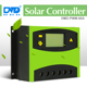 10a 20a 30a 40a 50A 60A solar Charge Controller 12v 24v Lcd Diaplay Solar Panel Battery Charge Regulator