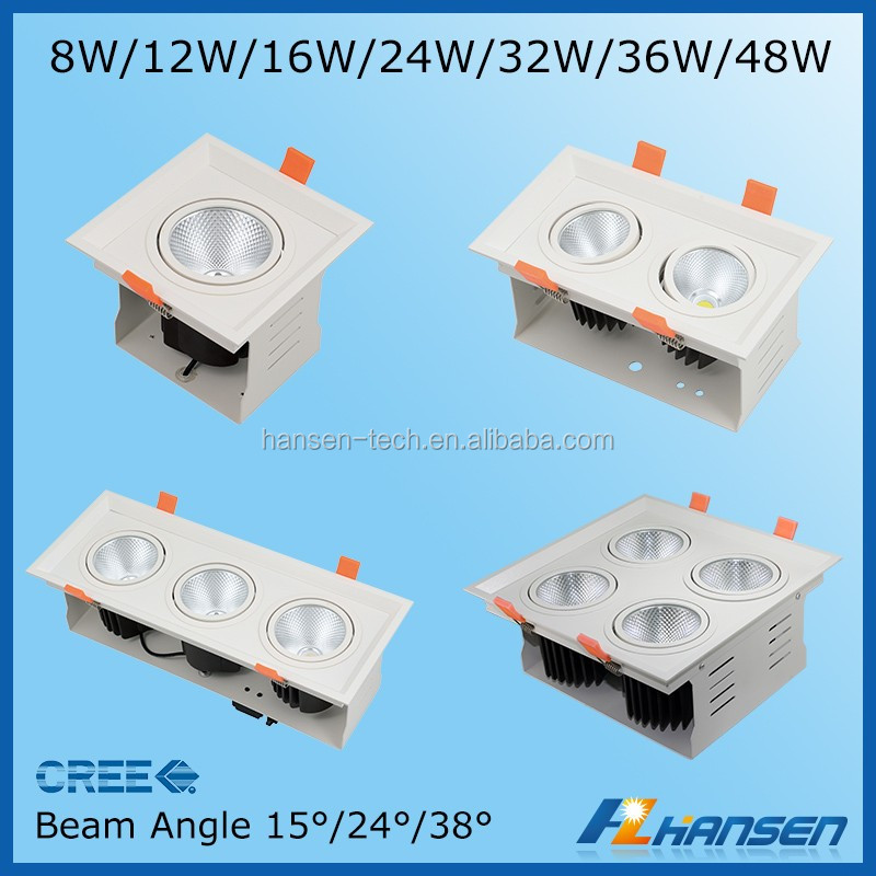led 12w double grille lamp innovative products led grille light grid lighting fixture