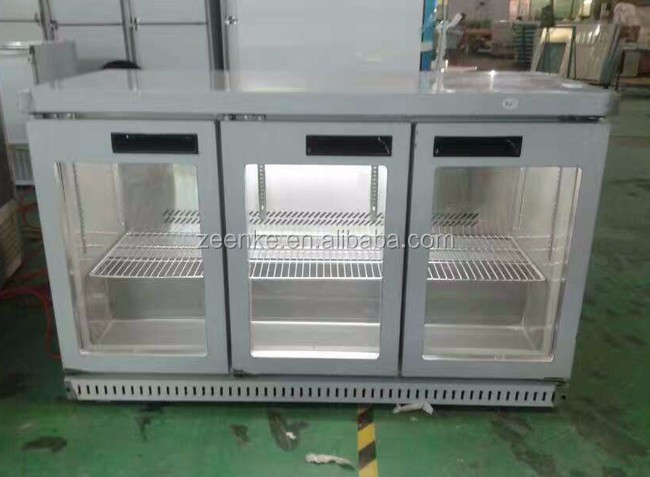 Beverage refrigerated under counter, supermarket 3 doors display refrigerator
