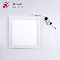Made in China 85-265V small round ceiling lighting 6w square light panel led