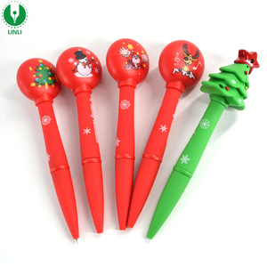 Giveaway Gifts Sound Led Christmas Pen, Christmas Ballpoint Pen, Multi-function Pen