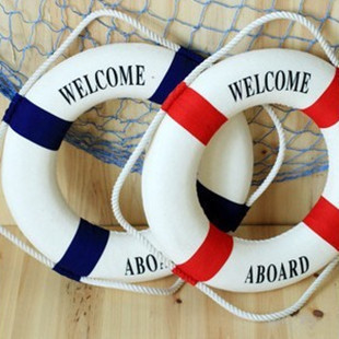 <font><b>Decorative</b></font> Lifebuoy Wall Hanging Life Preserver <font><b>Nautical</b></font> Welcome Aboard <font><b>Decorative</b></font> Ring Room Bar <font><b>Home</b></font> <font><b>Decoration</b></font>