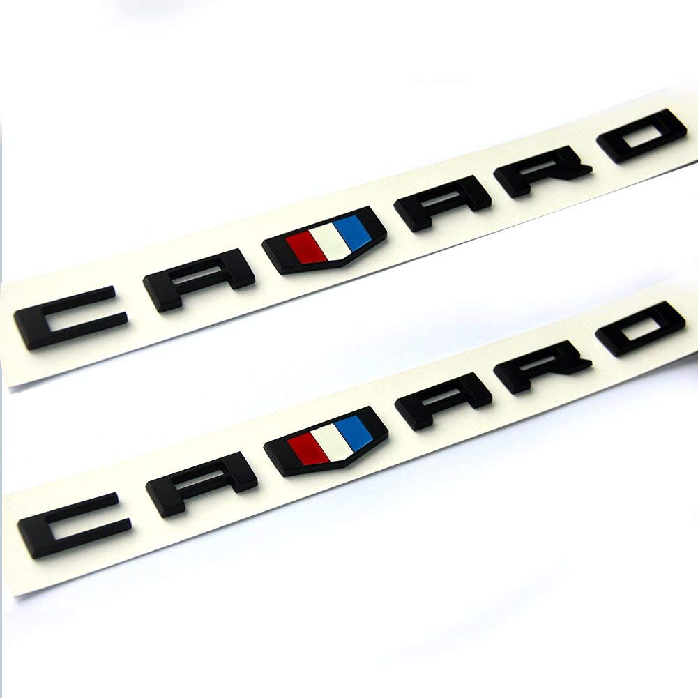 2x OEM SS Emblems Badge 3D For Camaro Chevy series Red line L