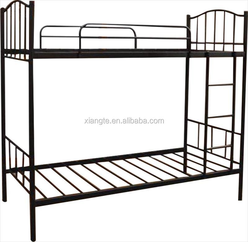 modern design steel bunk bed frame metal frame double decker bunk bed - Bunk Beds Metal Frame