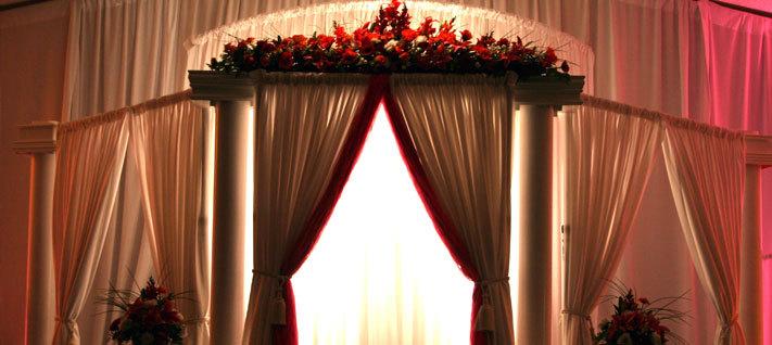 Nine Trust Aluminum Pipe And DrapeWedding Backdrops For SalePortable Wedding Pipe And Drape