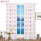 High quality fancy embroidery tree pattern oriental office window curtain