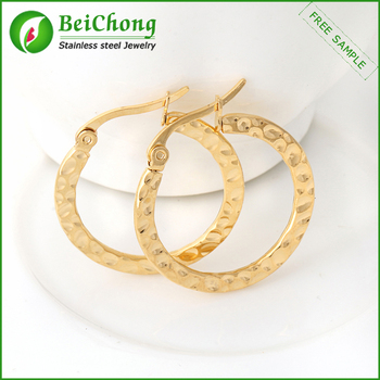 Hoop Earrings Gold Round Khazana Earring Designs