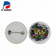 Cheap blank tinplate material pins 32mm button wholesale custom badge buttons / button badge