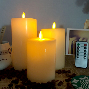 10 Buttons Remote Control Flat Mouth Swing Flame Electronic Candle Light  Simulation Flashing Beating Flame LED Electronic Candle