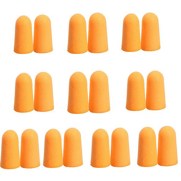 10 пар мягкая оранжевой пены беруши конические путешествия сна профилактика затычки для ушей шумоподавление для путешествий спит