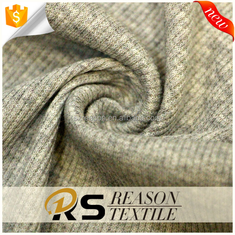 2017 top quality 68%polyester 28%cotton 4%spandex rib knitting fabric