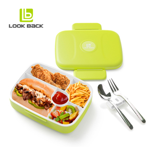 2018 trending products tiffin lunch box with spoon and fork