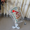 Lightweight aluminum portable trolley,basket with wheels