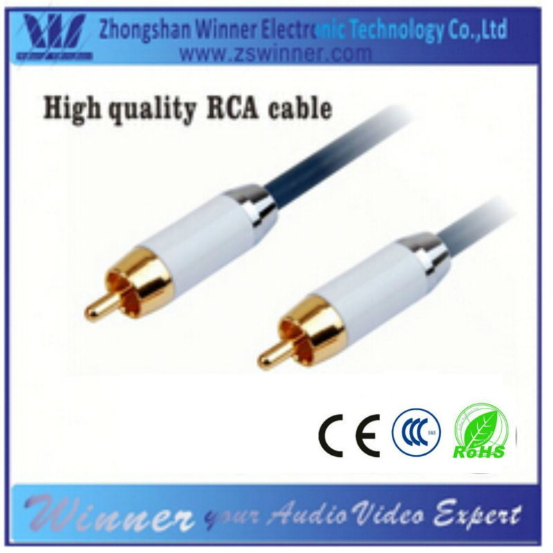 Factory Price with Gold Plated connector for RCA Audio Video cable