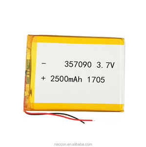 low price 3.7v 2500mah ultra thin lithium polymer battery with high power