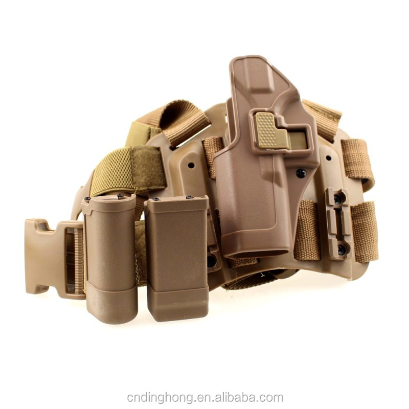 Tactical Quick Drop Leg G17 Holster SET with Flashlight Magazine Pouch