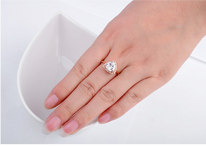 classic gold zirconia over silver rings princess tw wedding cubic ring in five white cut ct plated p