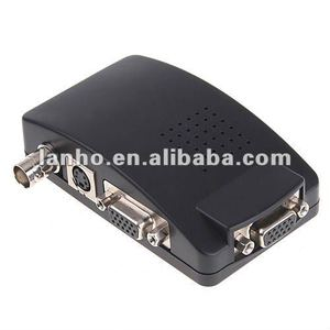 S-Video VGA CCTV Camera DVD DVR to VGA LCD Monitor Adapter Switch Converter