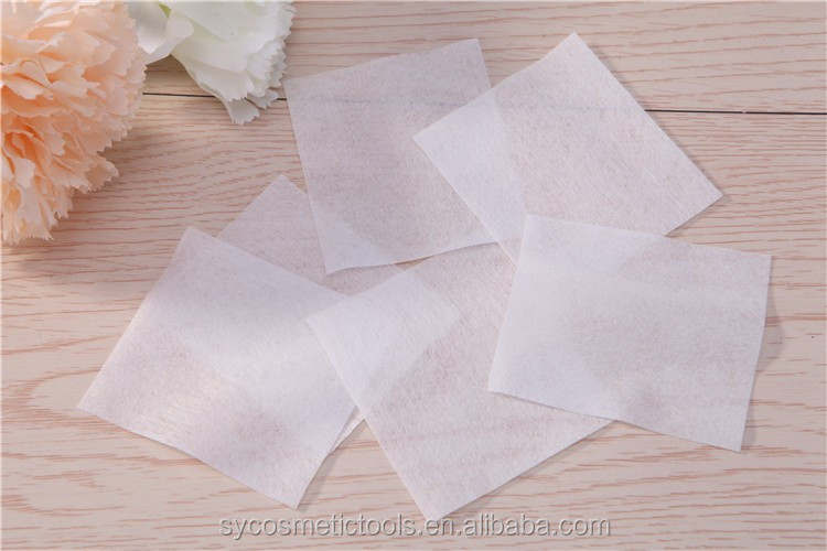 Wholesale 400pcs facial cotton pads make up smooth single layer square cotton pads cosmetic B1012
