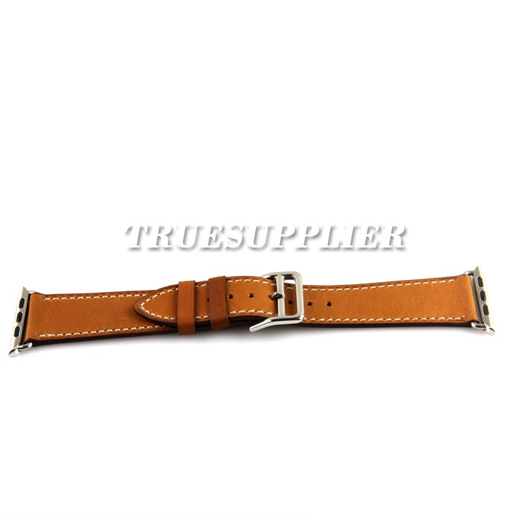 brown leather cuff watch band for apple watch 38mm 42mm band