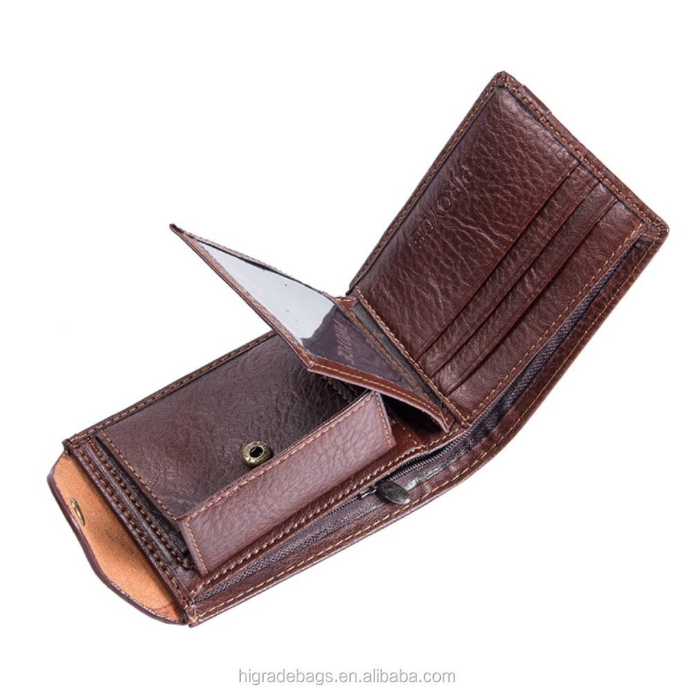 wallet men genuine leather