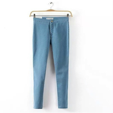 Calça Jeans de Cintura alta Para As Mulheres Denim calças de Brim Mulher 2016 Preto lápis calças de Brim das Mulheres Femme Azul Jeans Skinny Mulheres Denim Calças calças