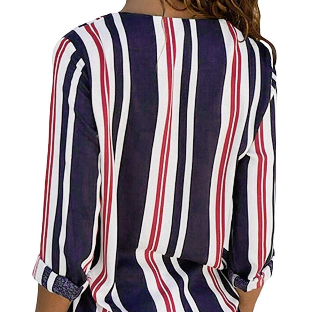 d958e3aabbf Get Quotations · OWMEOT Women s Long Sleeve Raglan Sports Striped Tunic T  Shirt Blouse Tops