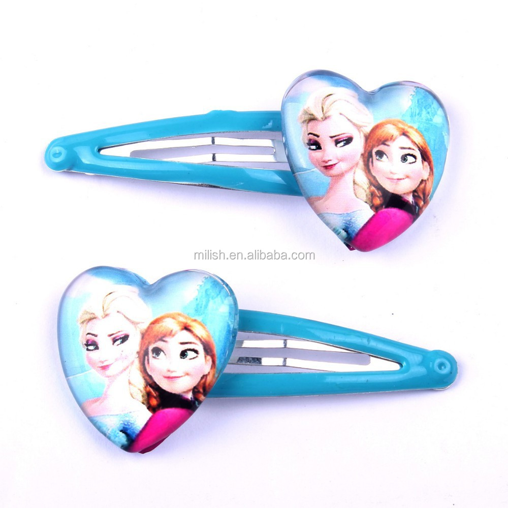 HH-0523 new hot sale Party frozen princess anna elsa hairpins wholesale kids baby Hair Accessories