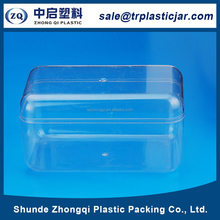 Durable 330ml rectangle PS plastic box,330ml rectangle plastic candy/gift packing canister