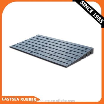 black rubber 610mm width door threshold kerb ramp