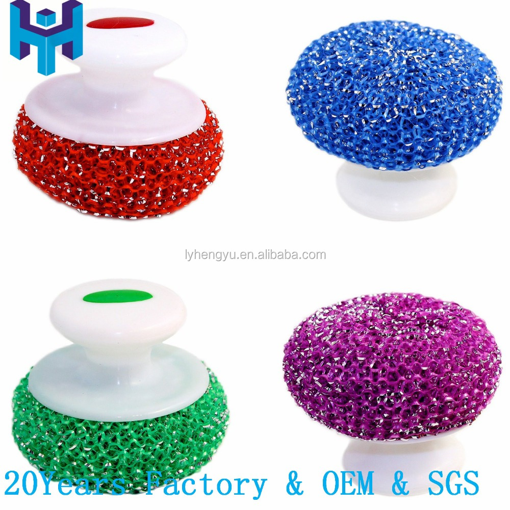 Dish Scouring Mesh Balls With Handle,Dish Scrubbers With Handle ...