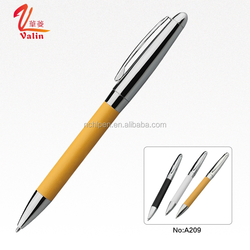 High Quality Business Writing Pen Metal Leather Pen