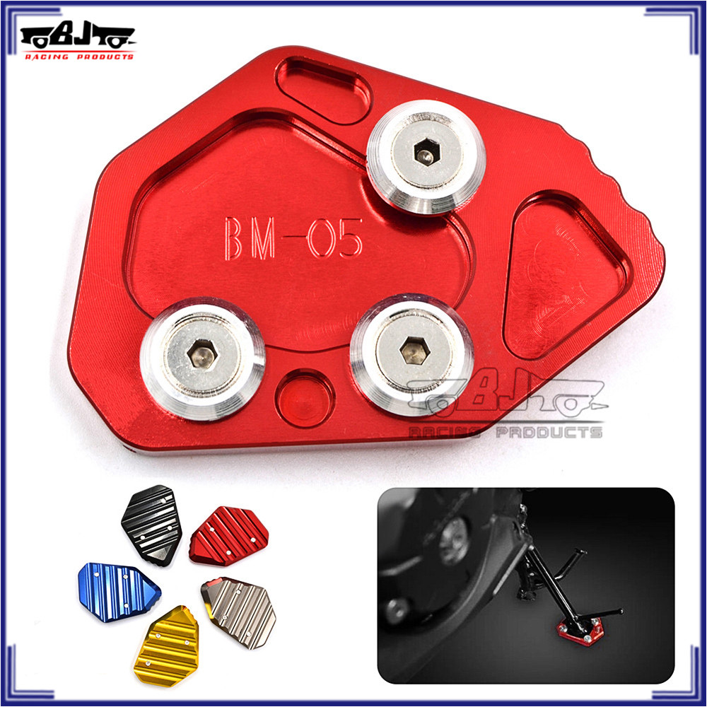 For BMW K1200S K1200R 05-08 CNC Side Stand Plate Kickstand Extension Pad Enlarge
