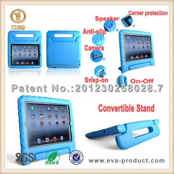 EVA foam for ipad case with convertible handle stand tablet case for kids