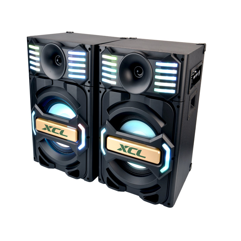Hot selling hi-fi woofer professional 2.0 Active Stage Audio Speaker with disco light