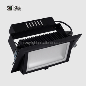 Commercial led downlight retrofit 48w replace 150w HID square led downlight 227x130mm cutting