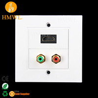 HDMI RCA Red Green UK 86 type Wall Face Plate
