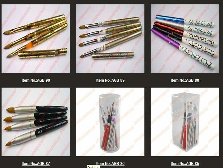 Professional Acrylic Nail Art Brush Set for UV Gel Builder Nal Brushes #6 AGB98