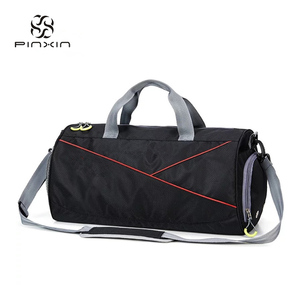 China Cheap Customized Black Sports Duffle Tote Bag Luggage Travel Storage Bag