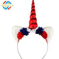 Made In China JULY 4th Light up LED headband target supplier hairhoop