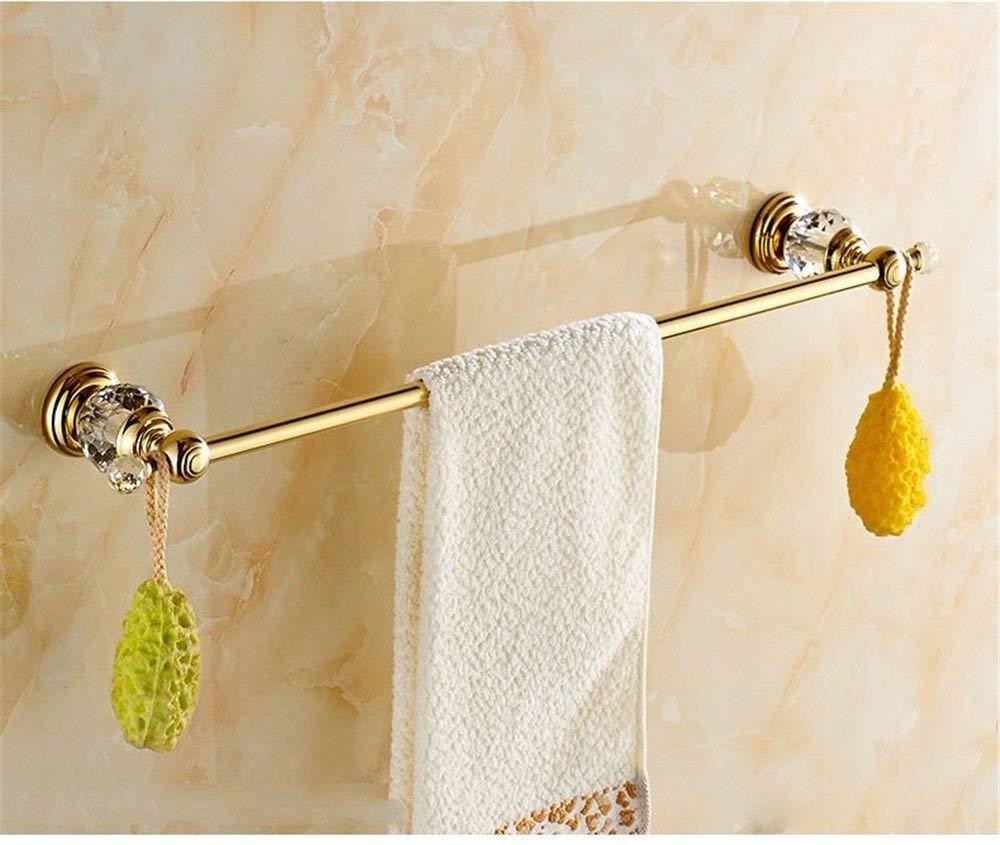 GKRY@Towel Rail Bar-Wall Mounted Bathroom Kitchen Brass Towel Holder Towel Bar Vintage gold plated brass crystal wall mounted bathroom, single towel bar