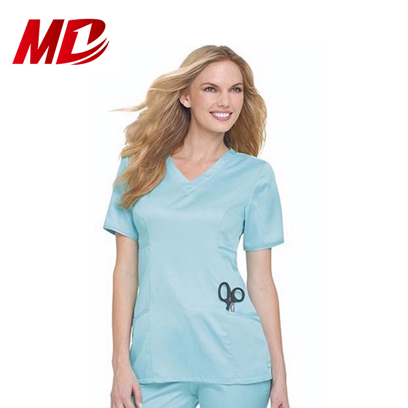 Polyester/Cotton New Style Nurse Uniform With Logo Customized